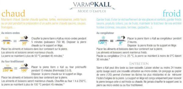 Dessous de plat en pierre ollaire - Varm o kall - Pour réchauffer ou refroidir naturellement - Marque Täljsten