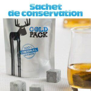 Sac hermétique de conservation pierre a whisky – Jusqu'à 12 pierres