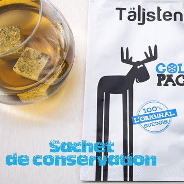 Sac hermétique de conservation pour pierre a whisky - Contient jusqu'à 12 pierres